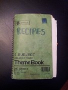notebook of recipes