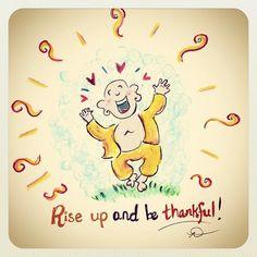 buddah doodle thankful