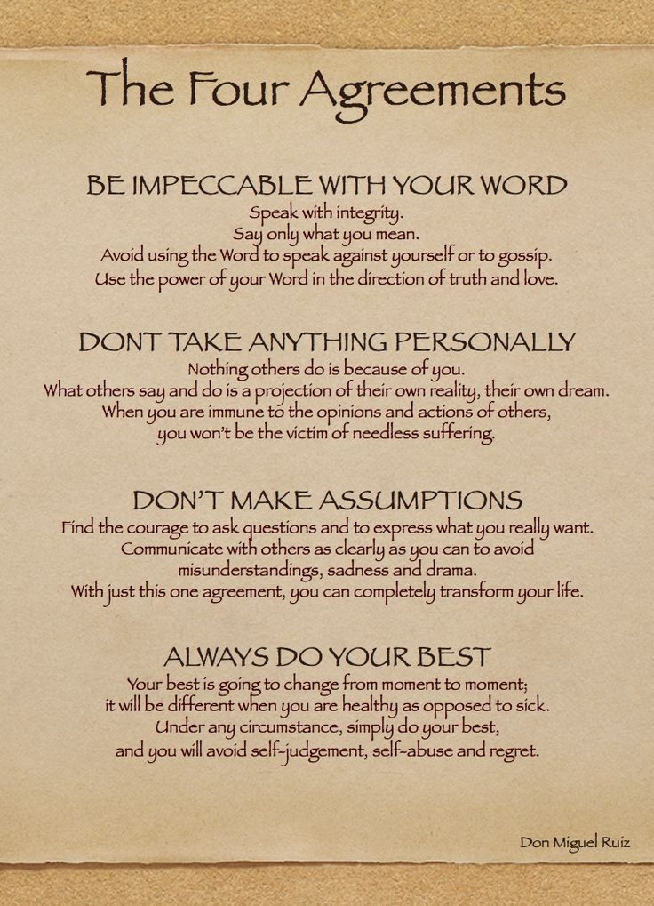 The Four Agreements 365 Days Of Thank You
